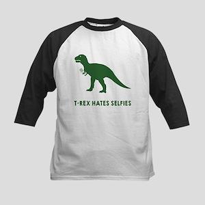 T-rex hates selfies Kids Baseball Jersey