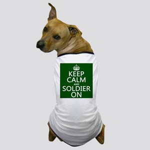 Keep Calm and Soldier On Dog T-Shirt