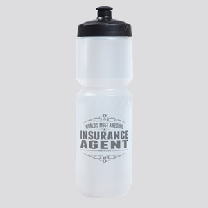 Worlds Most Awesome Insurance Agent Sports Bottle