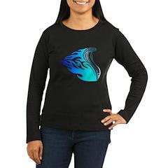 Blue Flames Cobra Tribal T-Shirt