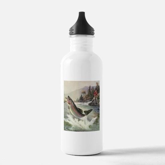 Vintage Fishing, Rainb Sports Water Bottle
