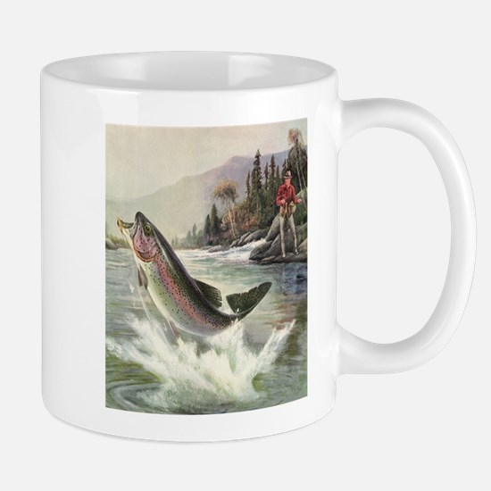 Vintage Fishing, Rainbow Trout Mugs