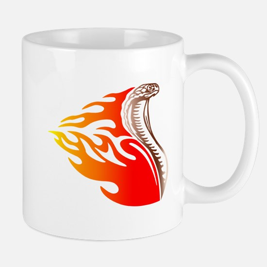 Cobra Flames Tribal Design Mug
