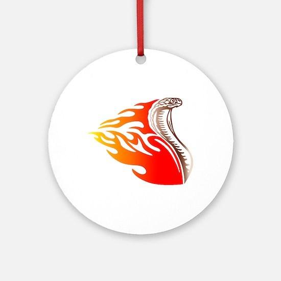 Cobra Flames Tribal Design Ornament (Round)