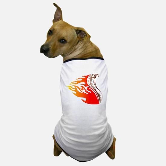 Cobra Flames Tribal Design Dog T-Shirt