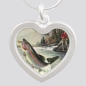 Vintage Fishing, Rainbow T Necklaces
