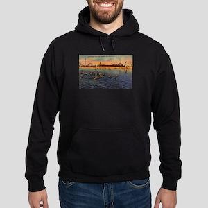 Vintage Pontchartrain Beach Artwork Hoodie (dark)