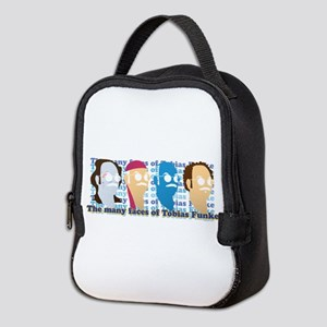 Many Faces of Tobias Neoprene Lunch Bag