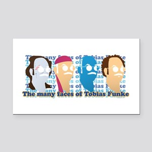 Many Faces of Tobias Rectangle Car Magnet