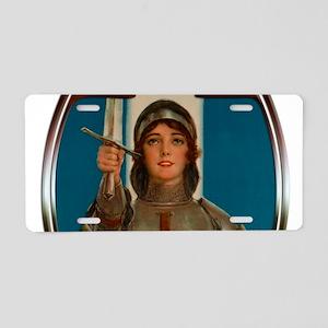 Joan of Arc Nouveau Aluminum License Plate