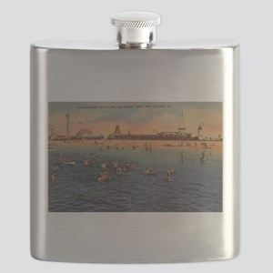 Vintage Pontchartrain Beach Artwork Flask
