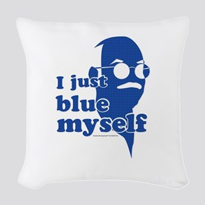 I Blue Myself Woven Throw Pillow