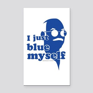 I Blue Myself Rectangle Car Magnet