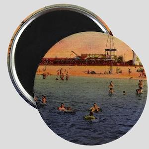 Vintage Pontchartrain Beach Artwo Magnets