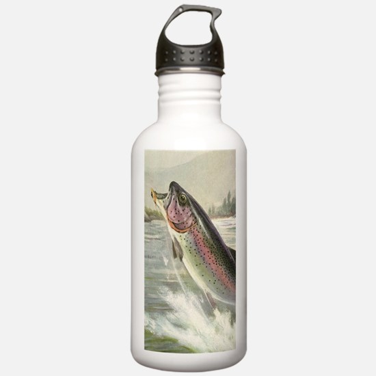 Vintage Rainbow Trout Water Bottle