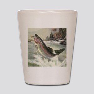 Vintage Rainbow Trout Shot Glass