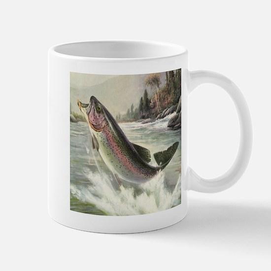 Vintage Rainbow Trout Mugs