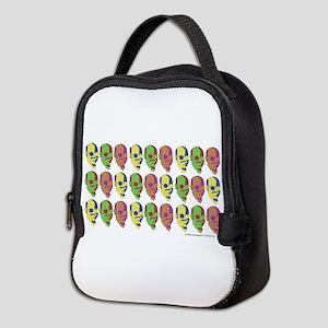 Tobias Multicolored Face Neoprene Lunch Bag