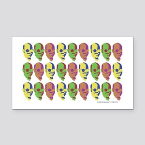 Tobias Multicolored Face Rectangle Car Magnet