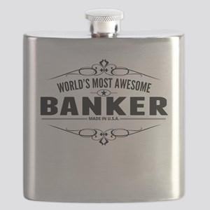 Worlds Most Awesome Banker Flask