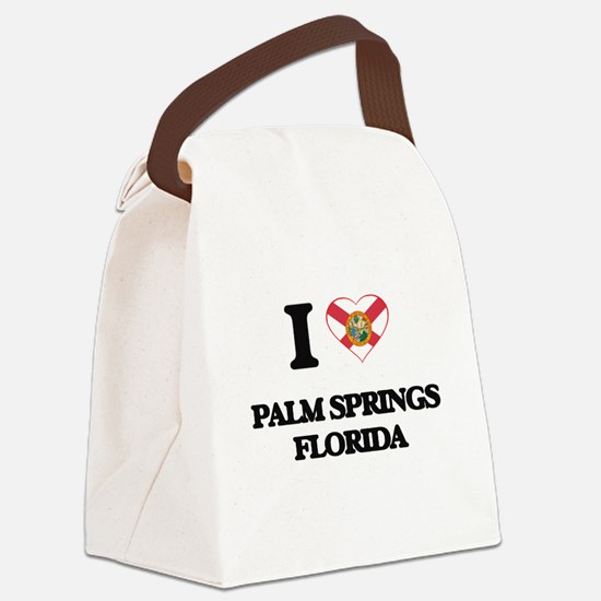 I love Palm Springs Florida Canvas Lunch Bag