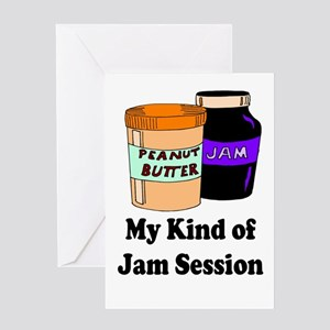 MY KIND OF JAM SESSION.  PB&J Greeting Card
