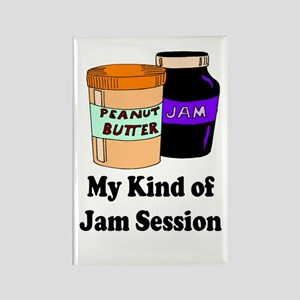 MY KIND OF JAM SESSION.  PB&J Rectangle Magnet