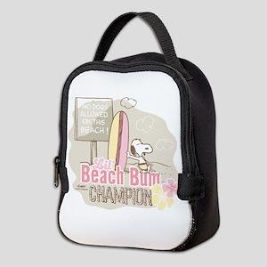 Snoopy Lil Beach Bum Neoprene Lunch Bag