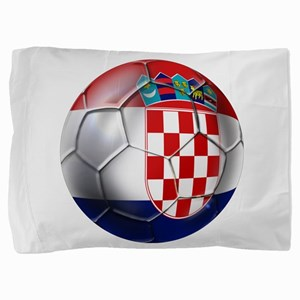 Croatian Football Pillow Sham