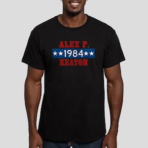 Vote Alex P Keaton 198 Men's Fitted T-Shirt (dark)