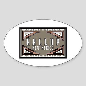 Gallup, New Mexico Oval Sticker