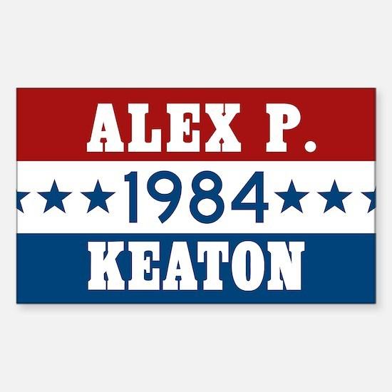 Vote Alex P Keaton 1984 Sticker (Rectangle)