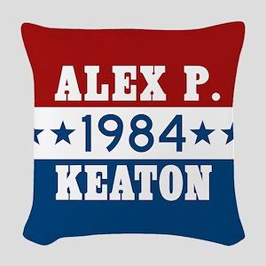 Vote Alex P Keaton 1984 Woven Throw Pillow
