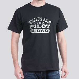 World's Best Pilot and Dad Dark T-Shirt