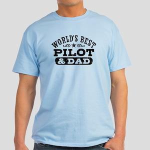 World's Best Pilot and Dad Light T-Shirt