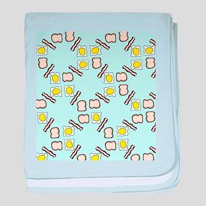 Breakfast pattern baby blanket