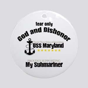USS Maryland Ornament (Round)