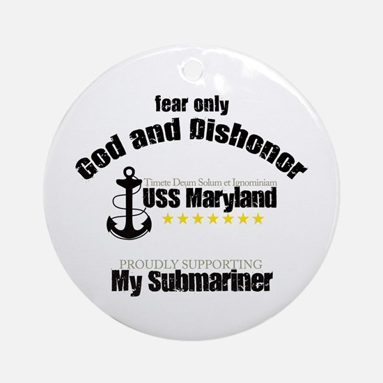 USS Maryland Ornament (Round)