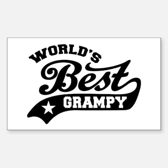 World's Best Grampy Ever Sticker (Rectangle)