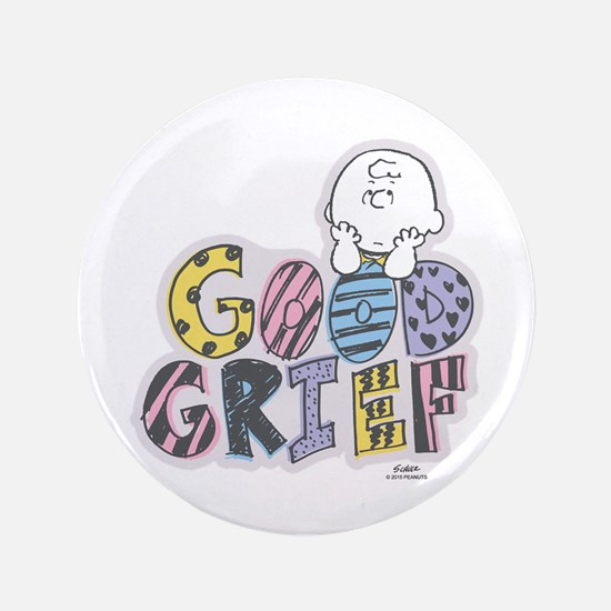 Charlie Brown Good Grief Button