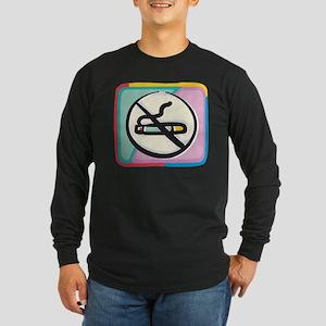 Cool No Smoking Long Sleeve Dark T-Shirt