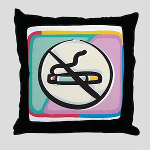 Cool No Smoking Throw Pillow