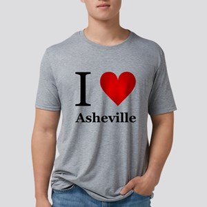 I Love Asheville Mens Tri-blend T-Shirt