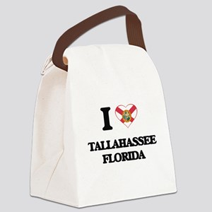 I love Tallahassee Florida Canvas Lunch Bag