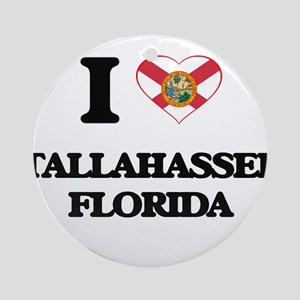 I love Tallahassee Florida Ornament (Round)