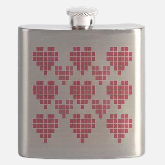 Pink Hearts Flask