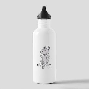 Snoopy Beagle Hugs Water Bottle