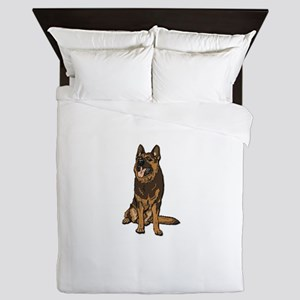 German Shepherd - No Text Queen Duvet