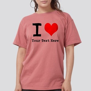 I Heart (personalized) Womens Comfort Colors Shirt