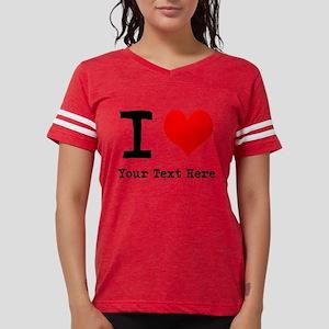 I Heart (personalized) Womens Football Shirt